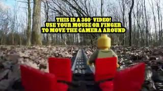 Lego train ride through Forest in VIRTUAL REALITY 360